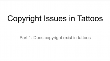 Presentation: copyright issues in tattoos