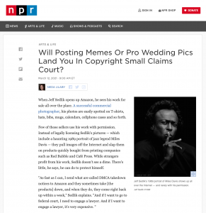 Can a small-claims court adequately address copyright infringement issues faced by small creators? TBD…