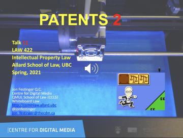 """Week 11: Audio-Slides """"Patents 2"""""""